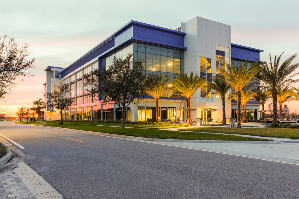 Our oFFice - Located at the Guidewell Innovation Center in the heart of the Lake Nona Town Center, we are happy to host a meeting with you here, complete with beautiful architecture and stunning views.