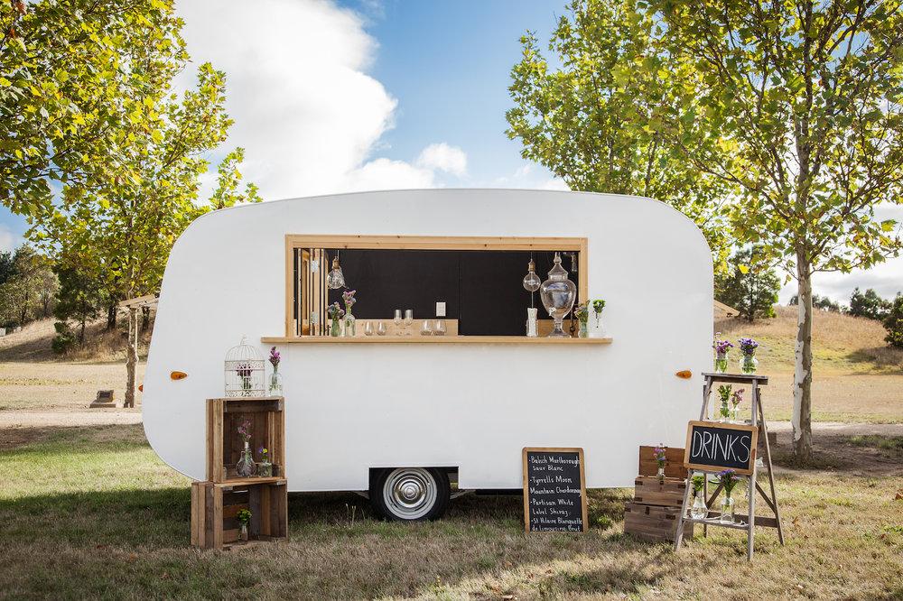 Meet Gertrude mobile caravan bar