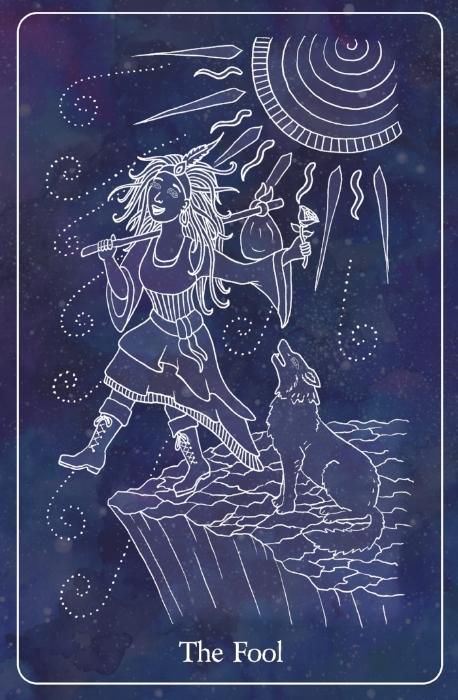 Wondering Fool Tarot Card - Illustrated by Ramona Teo