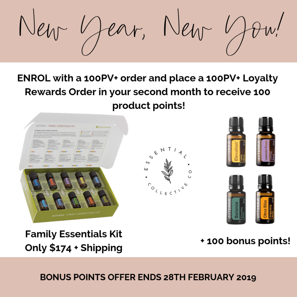 doTERRA Family Essentials Kit - the top ten essential oils every household needs plus a diffuser.