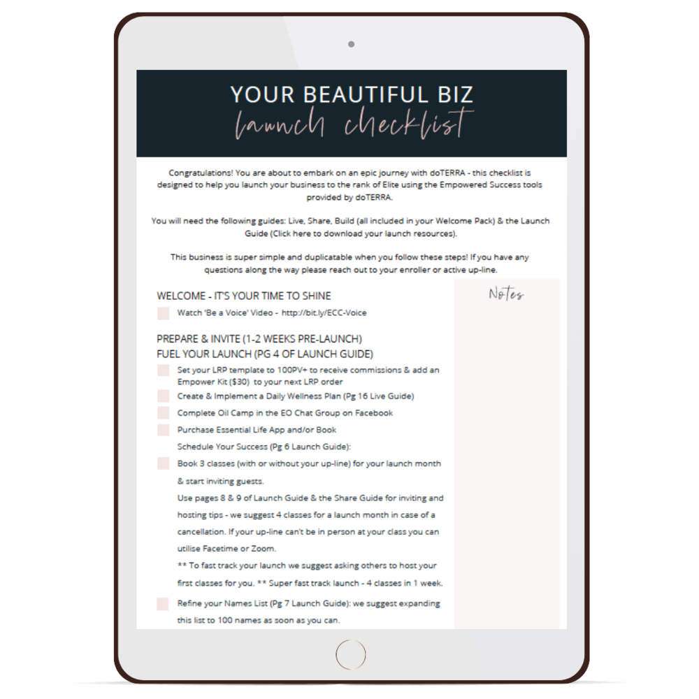 Launch your Biz Checklist
