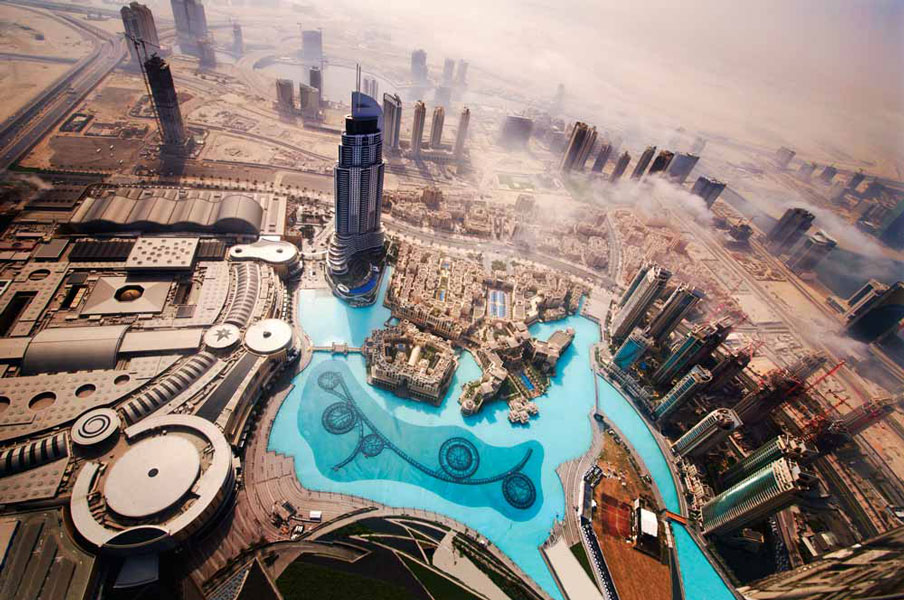 Dubai in Blue and Tan by Ted Andreasian