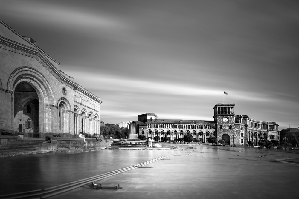 Yerevan Republic Square by Ted Andreasian