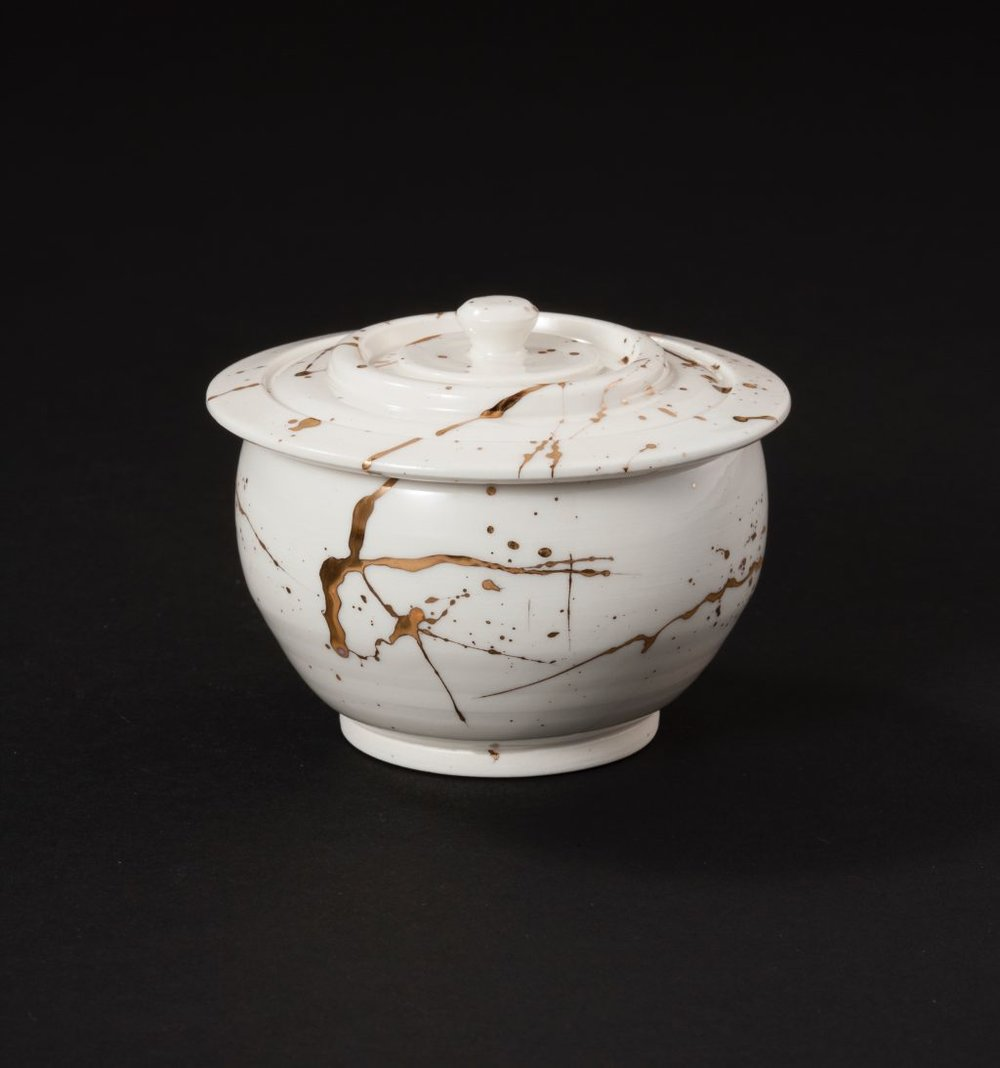 BUSHIDO SERIES PORCELAIN COVERED JAR