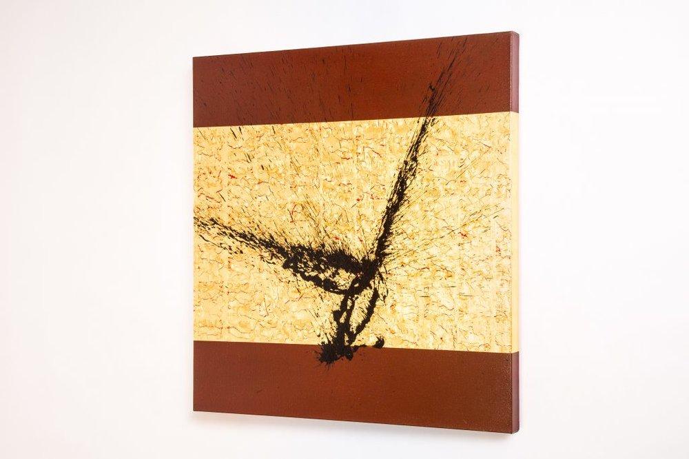 Kanazawa Gold Leaf & Acrylic on Canvas - 100cm x 100cm