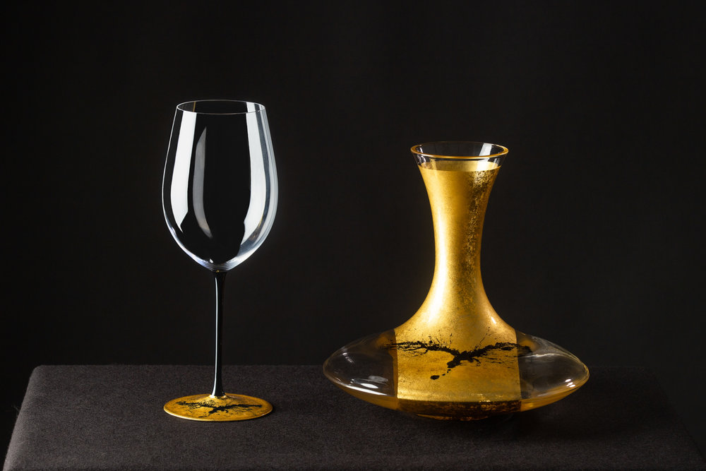 Hewett's Riedel Bushido Series Wine Glass and Decanter