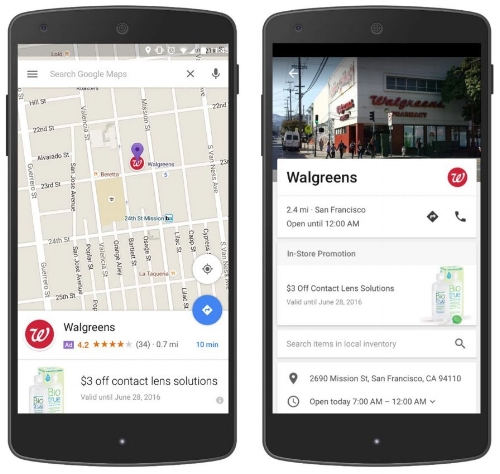 The newly offered Promoted pins make your locations stand out on a Google Maps search.