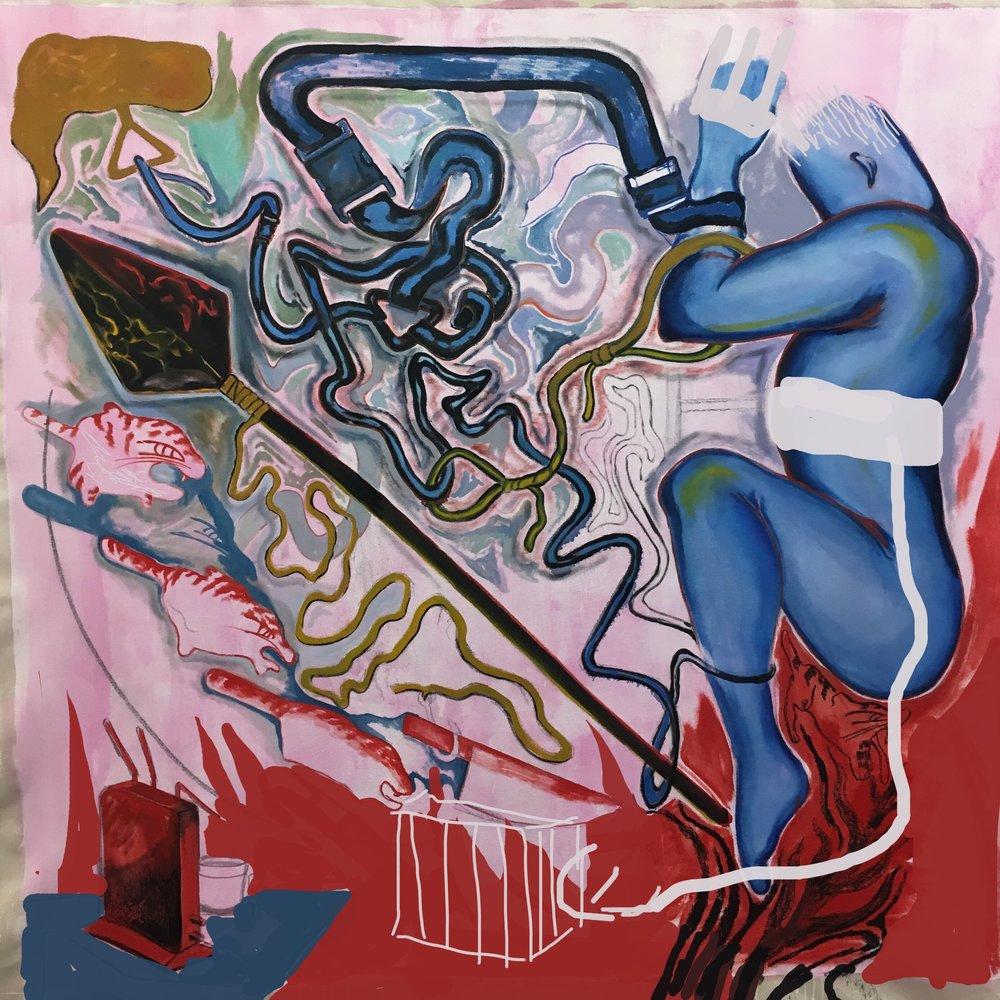 Itsuki Kaito's Work / Oil on Canvas / 150 x 150 cm