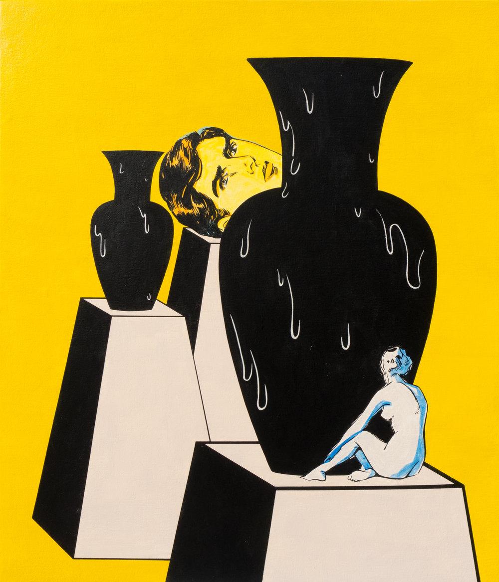 Dina Gadia's Work / Acrylic on Canvas / 60 x 70 cm