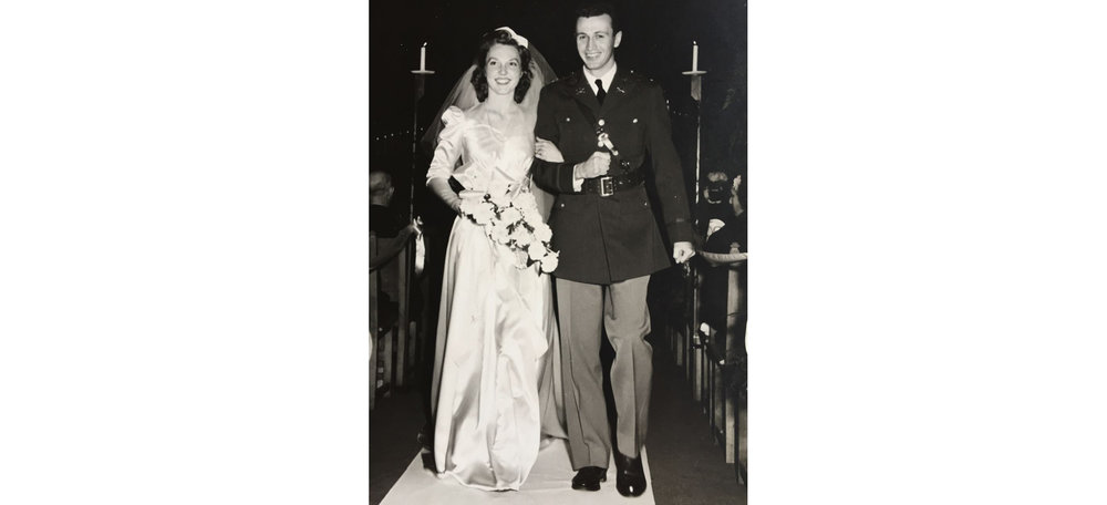 Margaret Howe McCaffery's wedding in 1942, Beverly Hills, California.