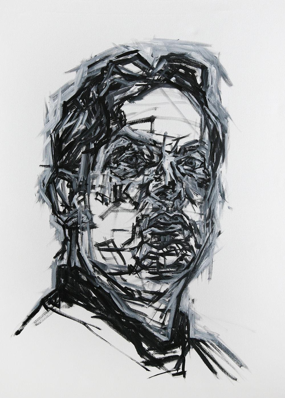 Large Self Portrait    acrylic on canvas    60 by 80 cm    £1000