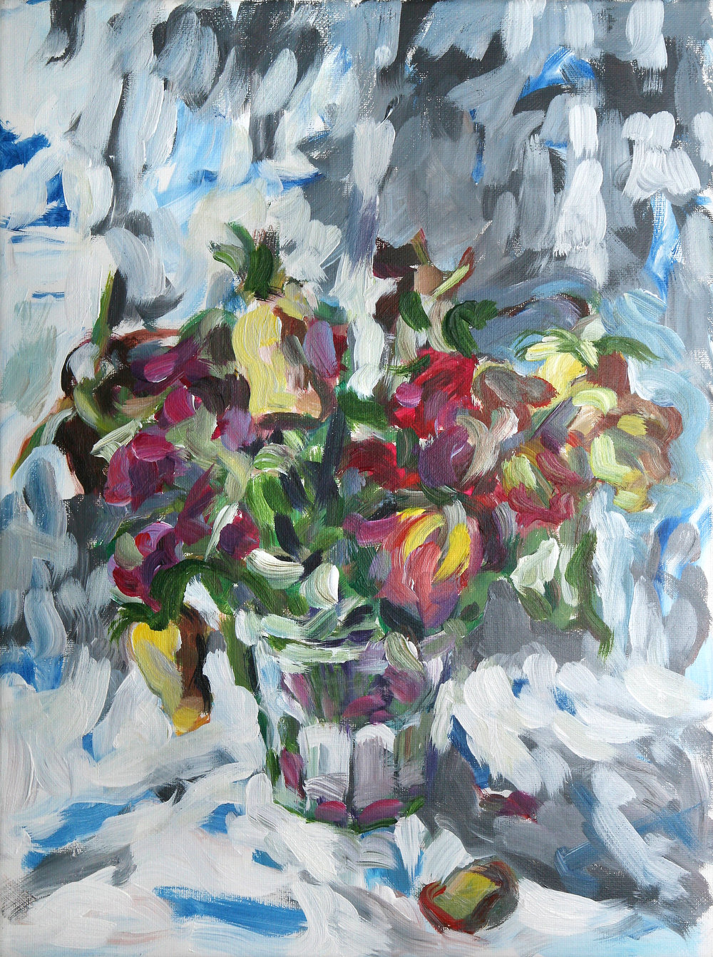 Dead Flowers   acrylic on canvas  40 by 30 by 1.75 cm  unframed  £650