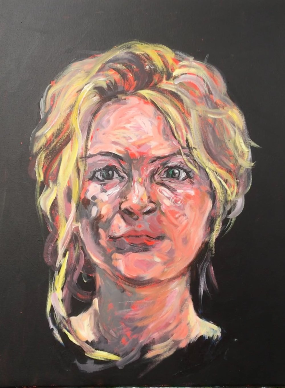 Lizzy  acrylic on canvas  not for sale
