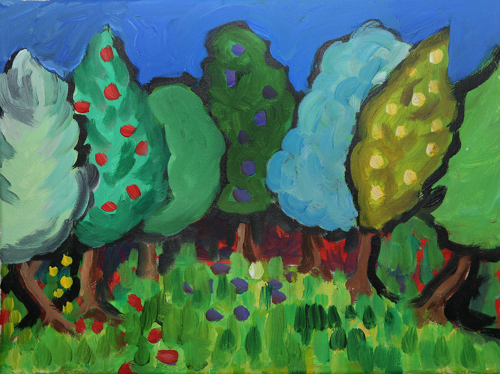 Cathedral garden  acrylic on canvas  £550