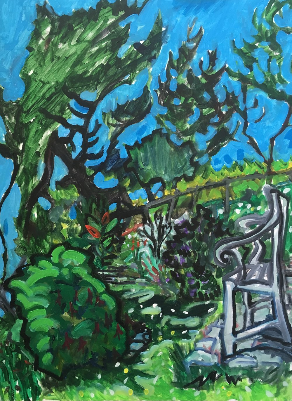 chair by the cliff, Devon  acrylic on canvas  60 by 80 by 1.5 cm  £750  unframed