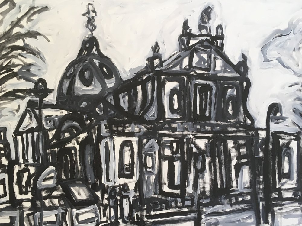 Brompton Oratory  acrylic on canvas  £800  60 by 80 by 1.5 cm  unframed