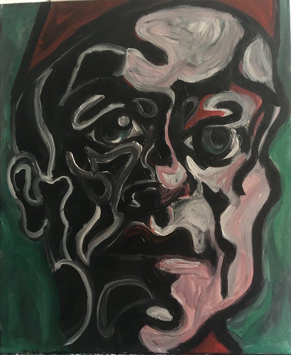 portrait of a friend  acrylic on canvas