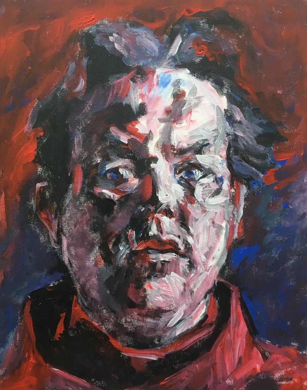 Self portrait  acrylic on canvas