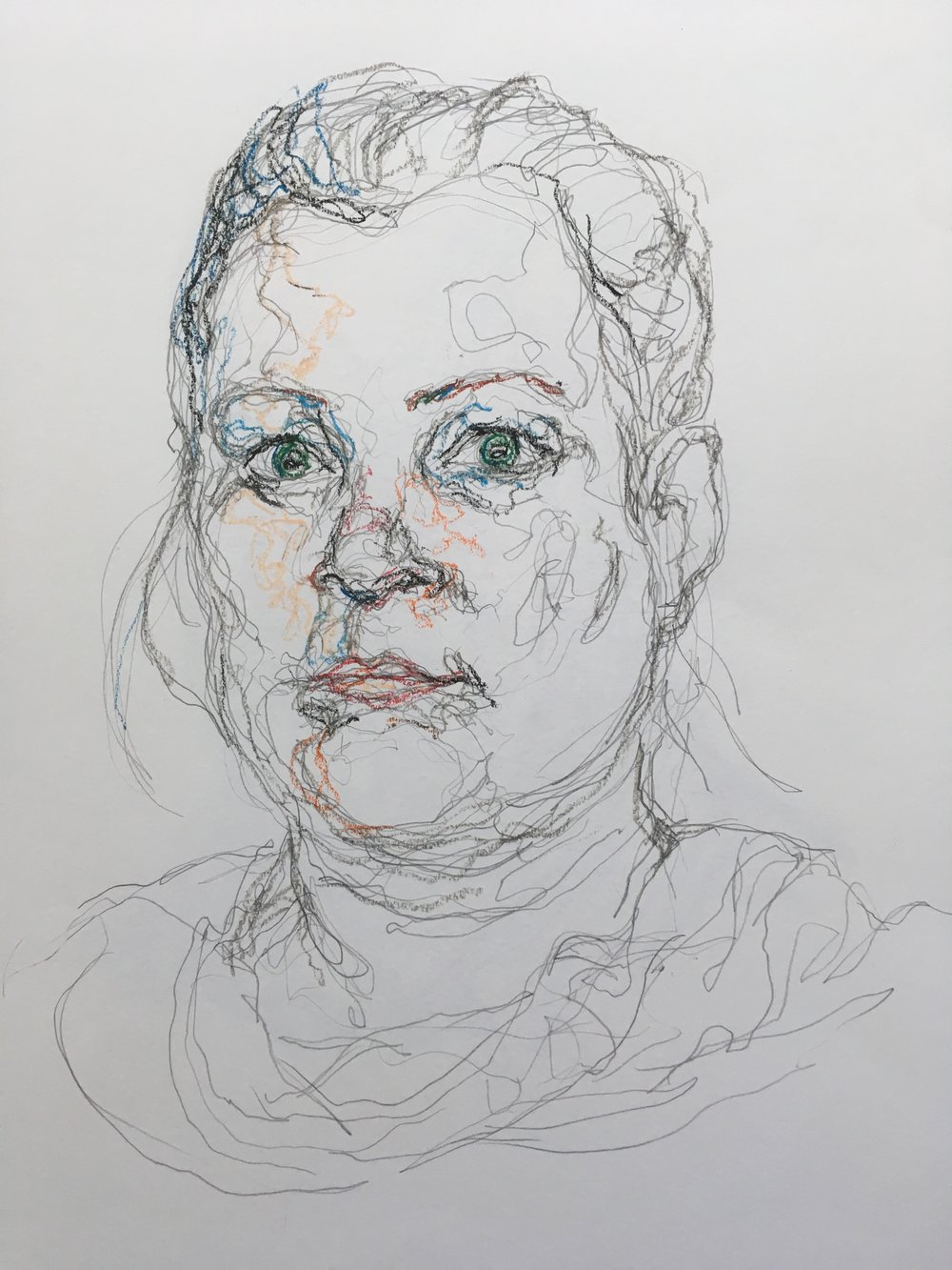 Lizzy  pencil and pastel
