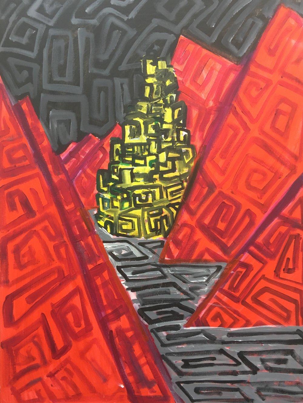 Shangri La  Acrylic on canvas
