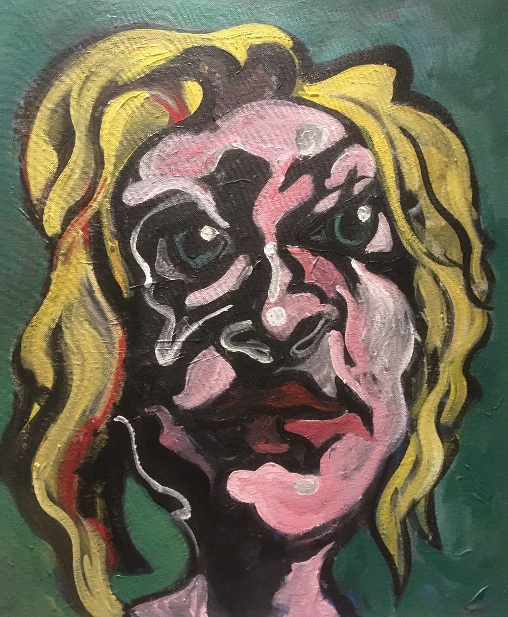 Distorted Lizzy  acrylic on canvas