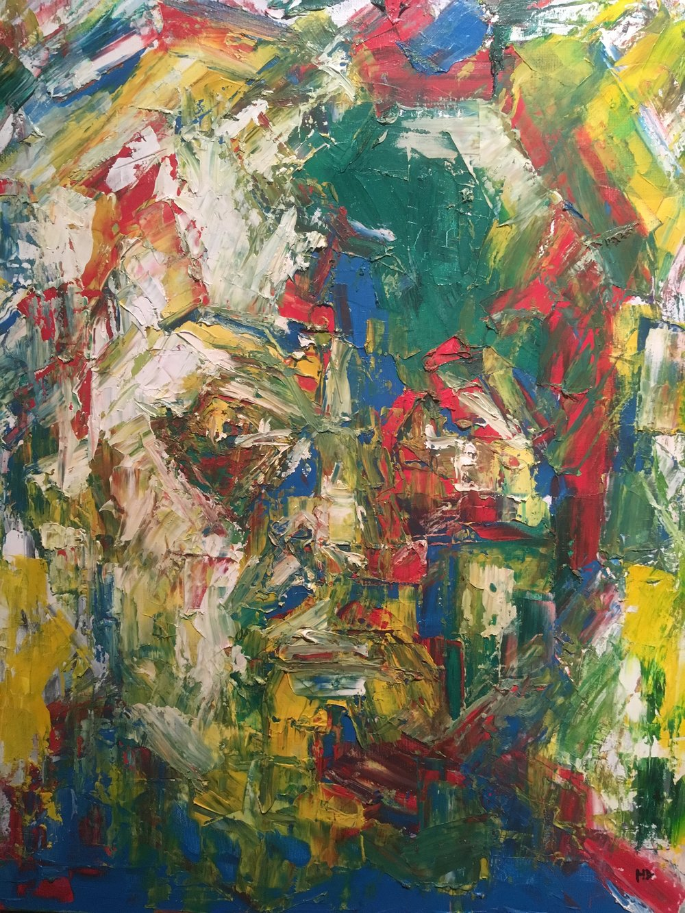 Capricorn  oil on canvas