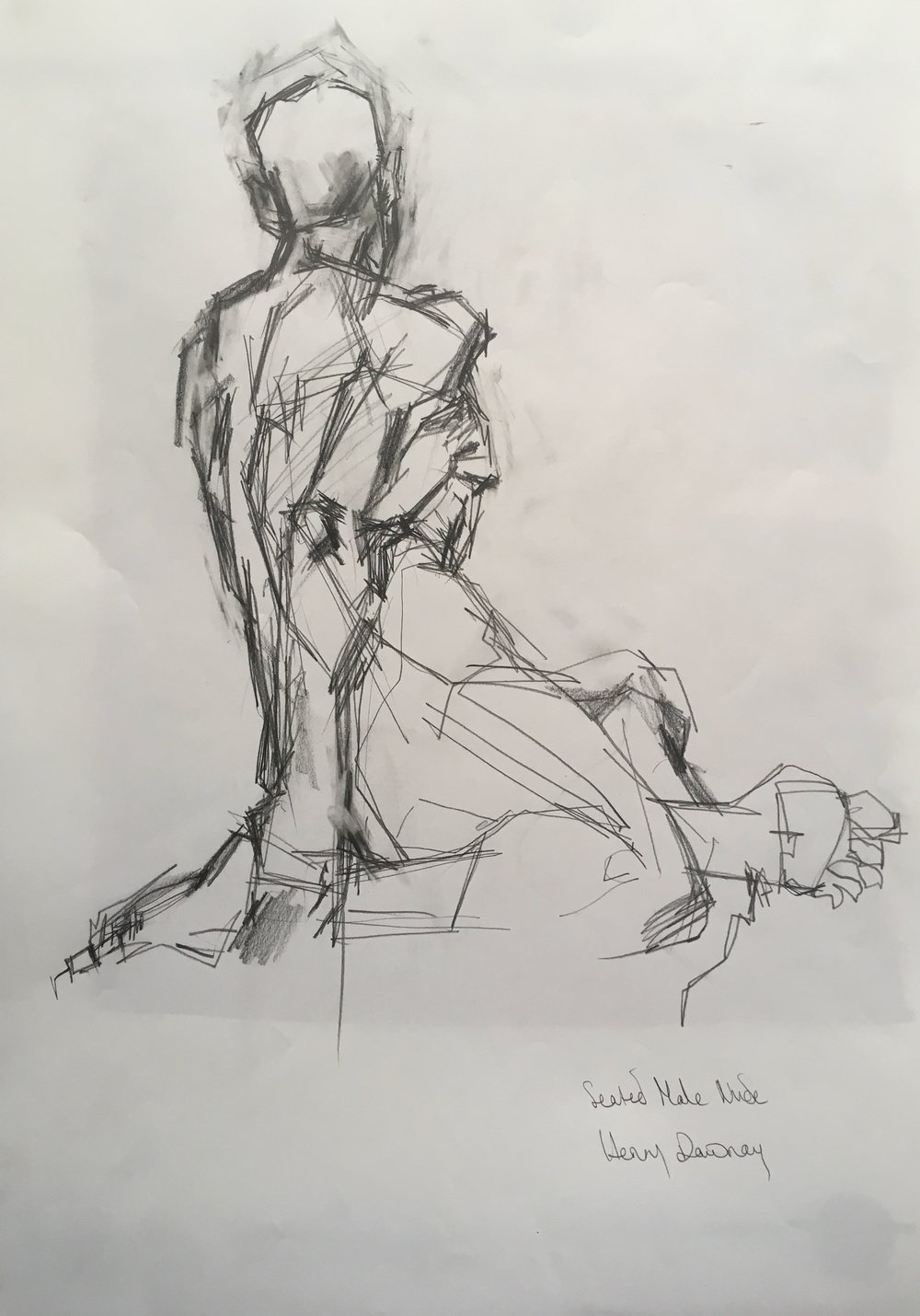 Male nude  pencil on paper