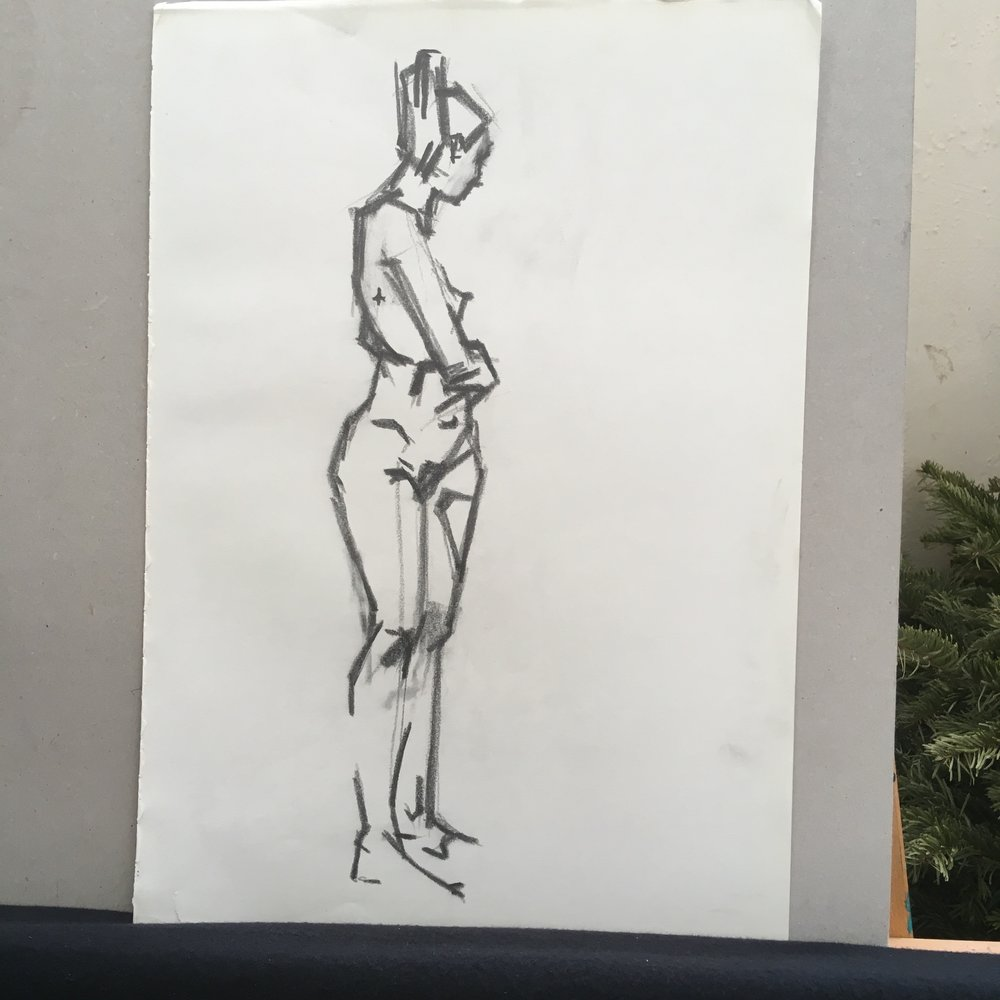 standing nude  pencil on paper