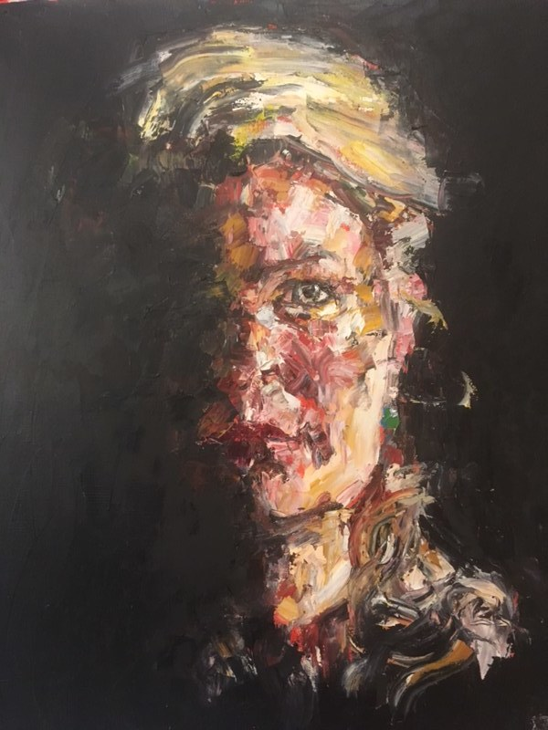 Portrait of Lizzy  Oil on Canvas