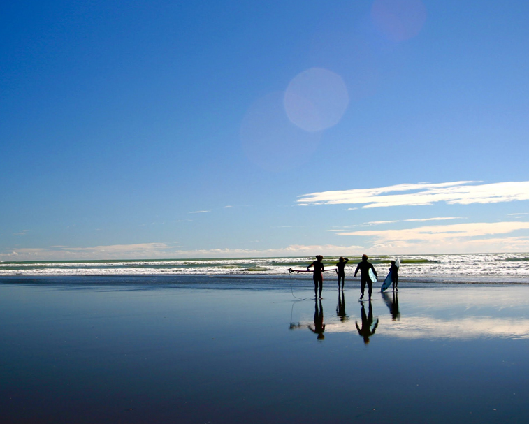 NGARUNUI BEACH   Wainui Rd, Raglan   Learn to surf or just hang out at this beautiful black sand beach.