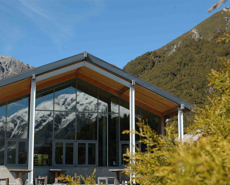 THE HERMITAGE   89 Terrace Rd, Mount Cook National Park   Resort style environment, and café and dining options.