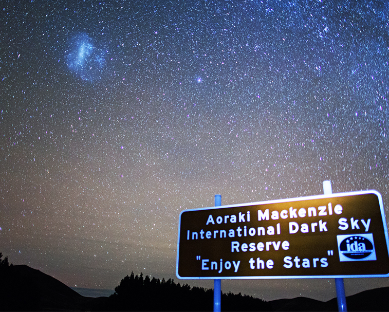 AORAKI MACKENZIE INTERNATIONAL DARK SKY RESERVE   In the heart of the South Island the sky is so clear and vast that millions of stars seem to appear right before your eyes.