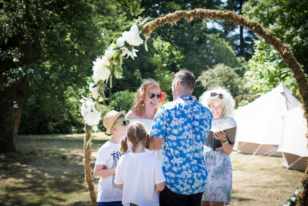 Vow renewals - Renewing your vows can be a wonderful way to celebrate your marriage. Formal or informal, intimate or overflowing, these ceremonies can be written to tell your story so far and to set intentions for the future.