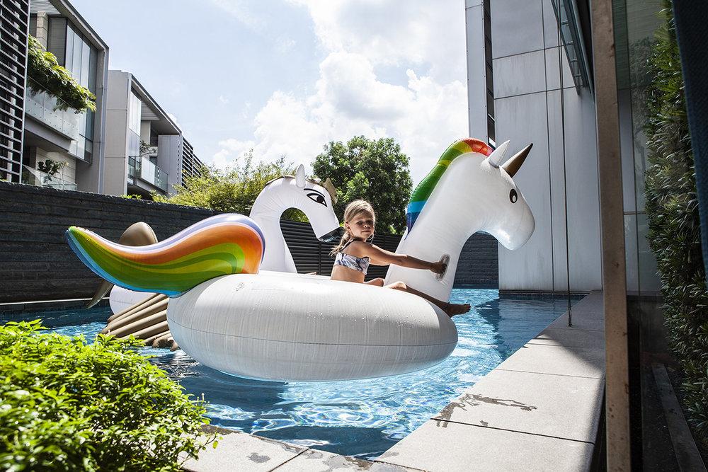 Pool Singapore resa med kids