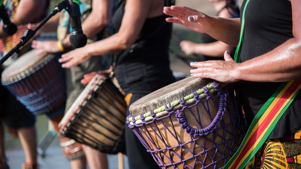 Djembe 'n Dance - This event celebrates life through learning how to play African drums and how to let your body express itself through dancing to the different beats that are created. This event is highly intuitive, every class is different and is intended to go with the flow of all people involved.