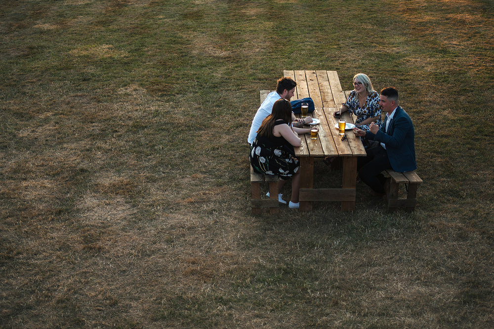 Wedding guests sat at a table