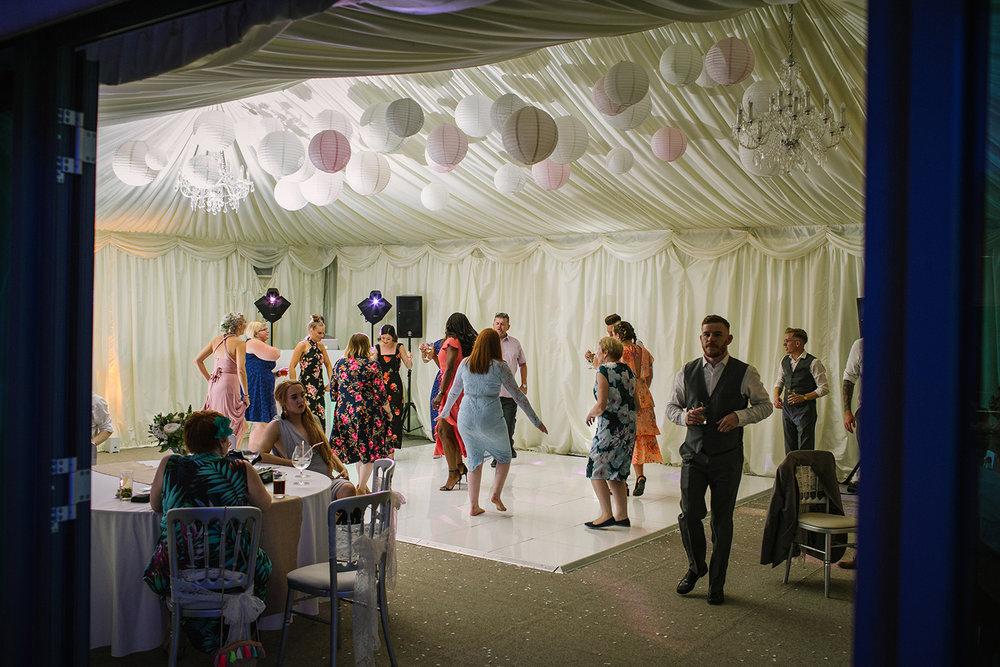 Wedding dance floor Manor Hill House