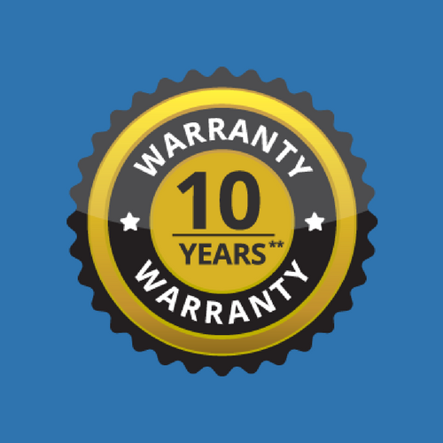 10 Year Warranty - **10 years complete and unlimited guarantee covering the deckboards, balustrade, fencing, aluminium subframe, accessories and the installation workmanship. Lighting is guaranteed for 12 months.