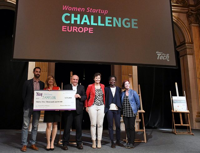Colleen Becker from the UK scoops the grand prize at the Women who Tech startup challenge
