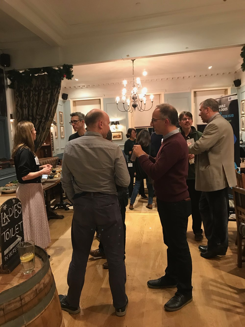 Guest mingle and network at the STBAH event