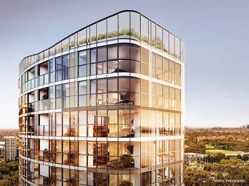 The Retreat - Iconic glass towers soaring high above the Sydney Olympic Park Precinct with uninterrupted views from every angle