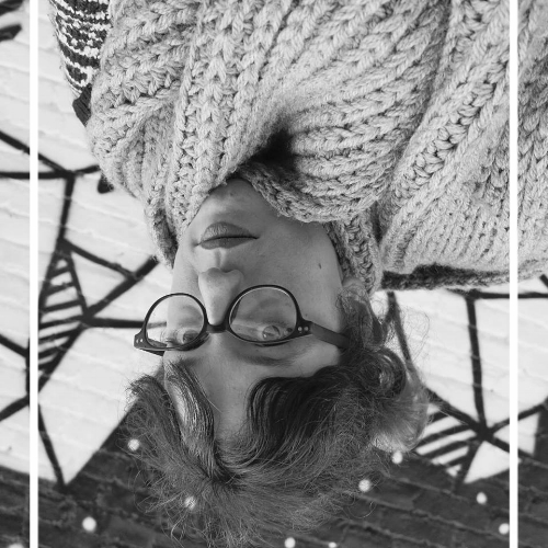 author's note : this photo is a misrepresentation as these glasses broke in my hands on day 3 of living in yerevan. they will be missed. also, i'm not upside-down in real life. i do, however, wear this much knit.