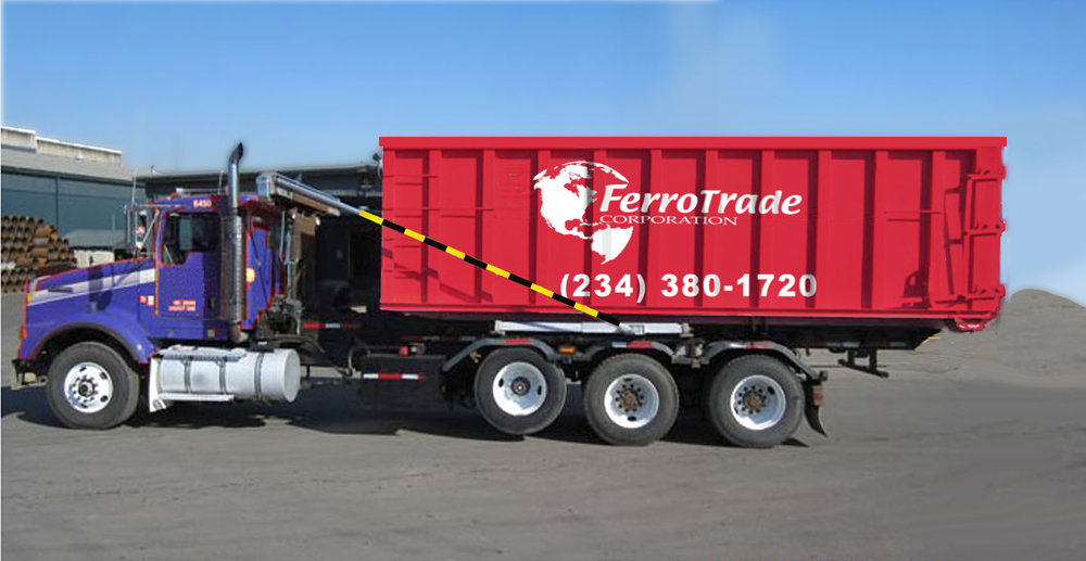 Complete Container Service - FerroTrade provides complete container service, including Roll-off boxes, Luggers, Self-Dumping hoppers, Gaylord boxes, and Steel or Plastic Drums. Whatever best suits your needs for effective scrap containment, we provide this service free of charge.