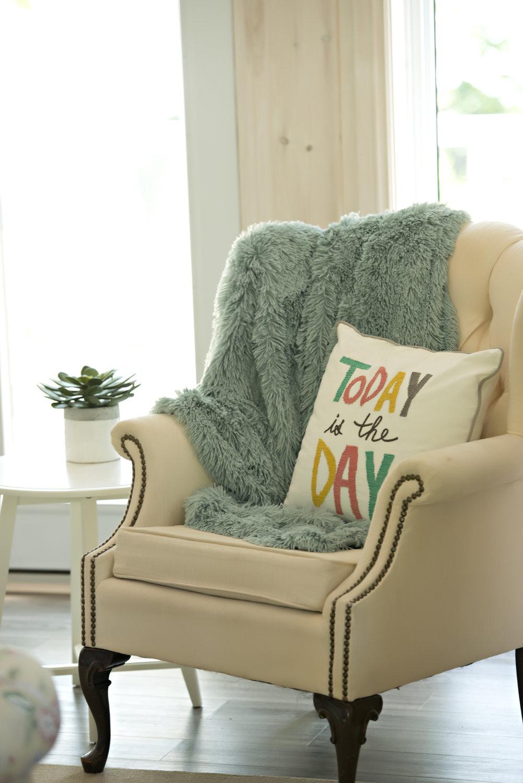 Candace-Plotz-Design-Beach-House-1-Chair-Colourful-Cushion