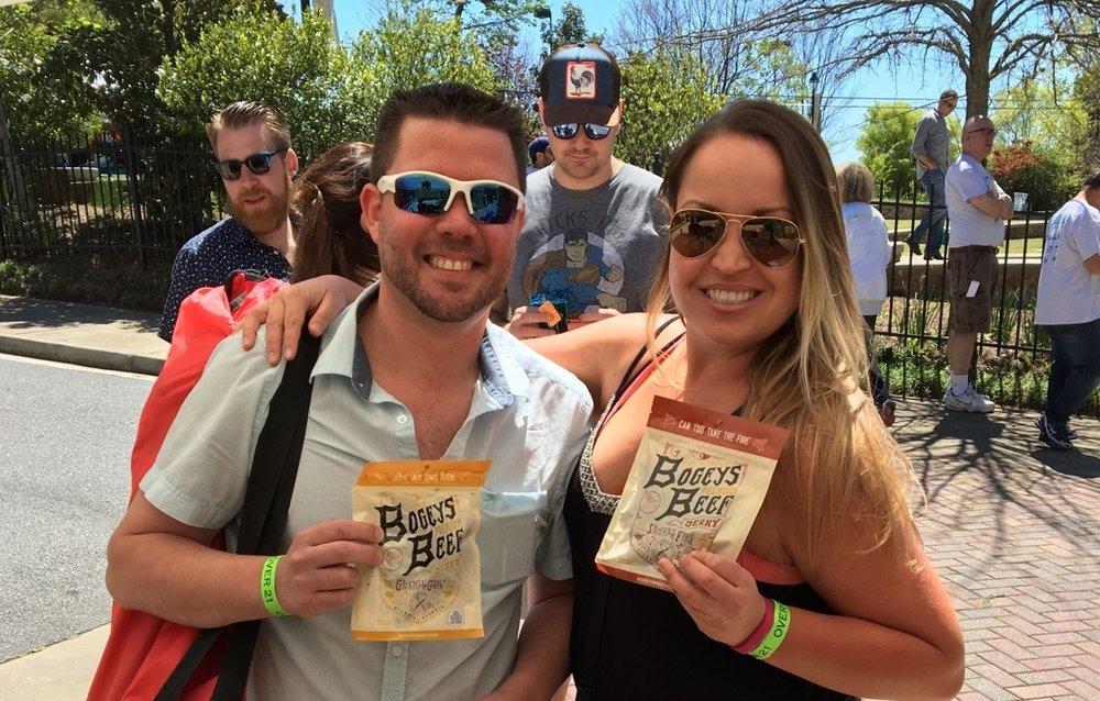 Rhythm & Brews-Heritage Sandy Springs April 8th, 2017  Couples that eat Bogeys together, stay together!