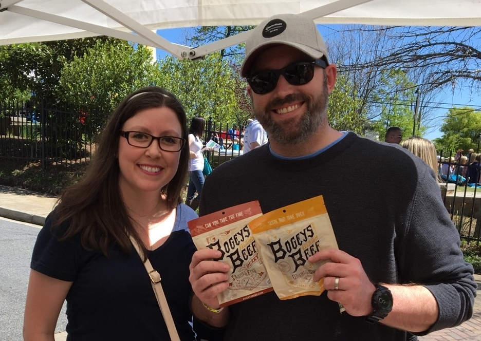 Rhythm & Brews-Heritage Sandy Springs April 8th, 2017  I hope he shared. Again, a couple the eats Bogeys Beef Jerky together, stays together.
