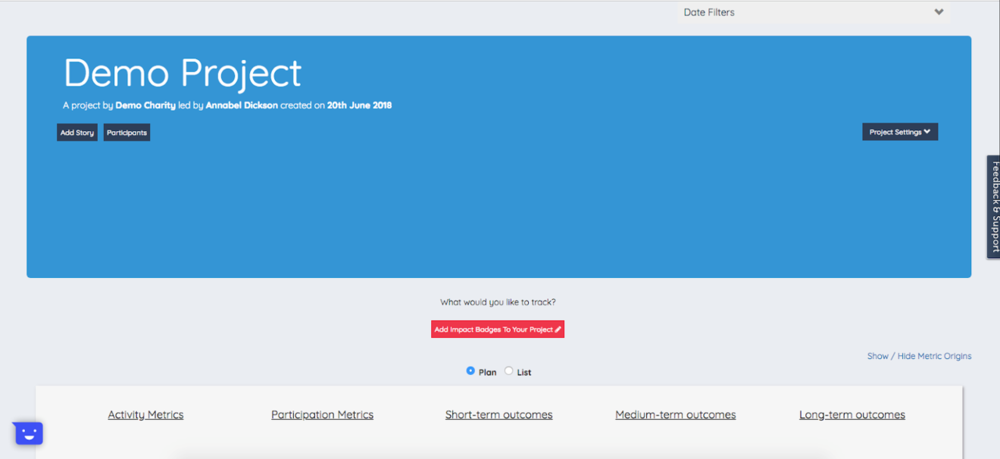 - Your project is now created. You'll be redirected to your Project Page which will look quite empty at the moment.