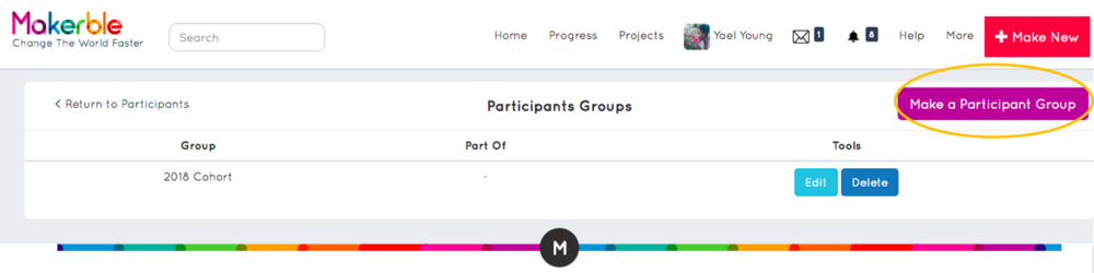 - 4. Create a new Participant Group