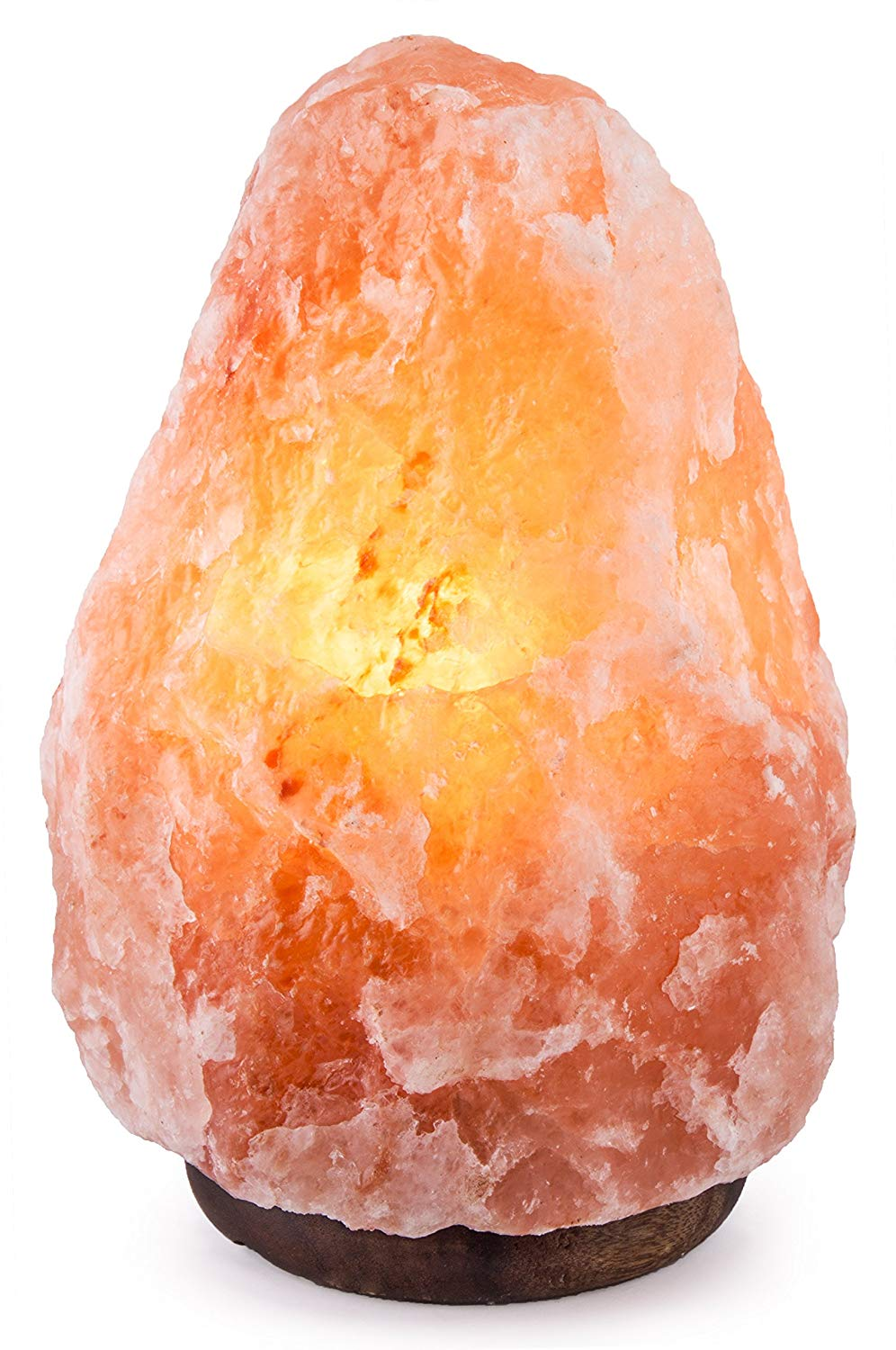 "CRYSTAL DECOR 7"" to 8"", 6-8 lbs Dimmable Hand Crafted Natural Himalayan Salt Lamp On Wooden Base.jpg"