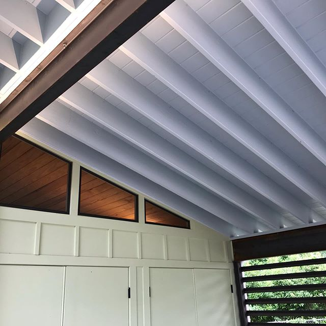 Can a carport be sublime?  Does a Camry care?  We incorporated a steel lattice and some indirect lighting to jazz up the carport on this project. #austinadu #moderncarport #ledlights